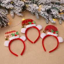 2019 Terbaru Hot Pesta Natal Hiasan Kepala-Hat Bando Meriah Ayah Santa Elf Rusa Xmas Fashion Hair Band(China)