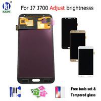 Light Adjustable For Samsung Galaxy J7 2015 J700 J700F J700M J700H LCD Display With Touch Screen