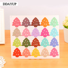 200Pcs/lot Cute Vintage Colourful Christmas Tree Theme Sealing sticker DIY Gifts posted/Baking Decoration label 100pcs lot cowhide english word mixed round sealing sticker diy gifts posted baking decoration label