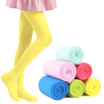 2018 Spring Candy Color Kids Pantyhose Ballet Dance Tights for Girls Stocking Children Velvet Solid White Pantyhose Girls Tights tights