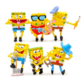 6pcs/lot Spongebob Figure Toys Sponge Bob Cosplay PVC Action Figures Anime Figure Classic Kids Toys for Boys Girls Children Gift