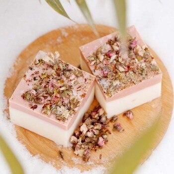Jasmin Handmade Cold Prozess Handgemachte Seife Blütenblatt Milch Bad Gesicht Seife Haut Feuchtigkeits Tiefe Reinigung Seife