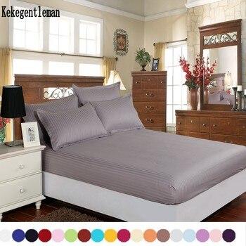 Textiles para el hogar 100% sábanas de algodón rayas Funda de colchón sábana de color sólido sábana entallada doble reina completa king 8 tamaño