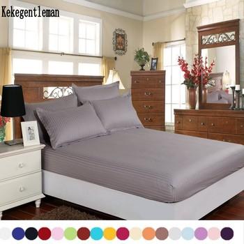 Textiles para el hogar sábanas 100% algodón raya colchón sábana ajustable color sólido colcha doble reina completa rey 8 tamaño
