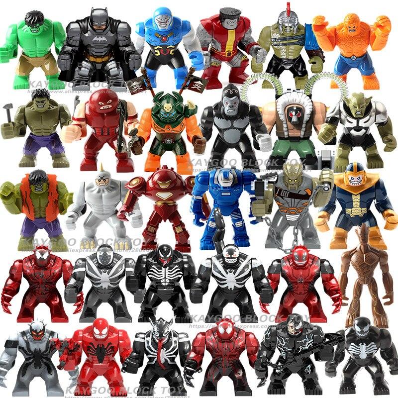 Gran Decool Thanos grande Anti veneno motín carnicería de hombre de hierro Monger Whiplash Hulk Buster bloques de construcción de juguetes para los niños