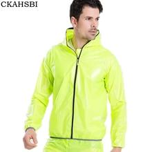 CKAHSBI Men Cycling Jacket Bicycle Bike Rain Jacket Raincoat Long Sleeve 2018 Outdoor Waterproof Sport Windproof Cycle Clothing цена