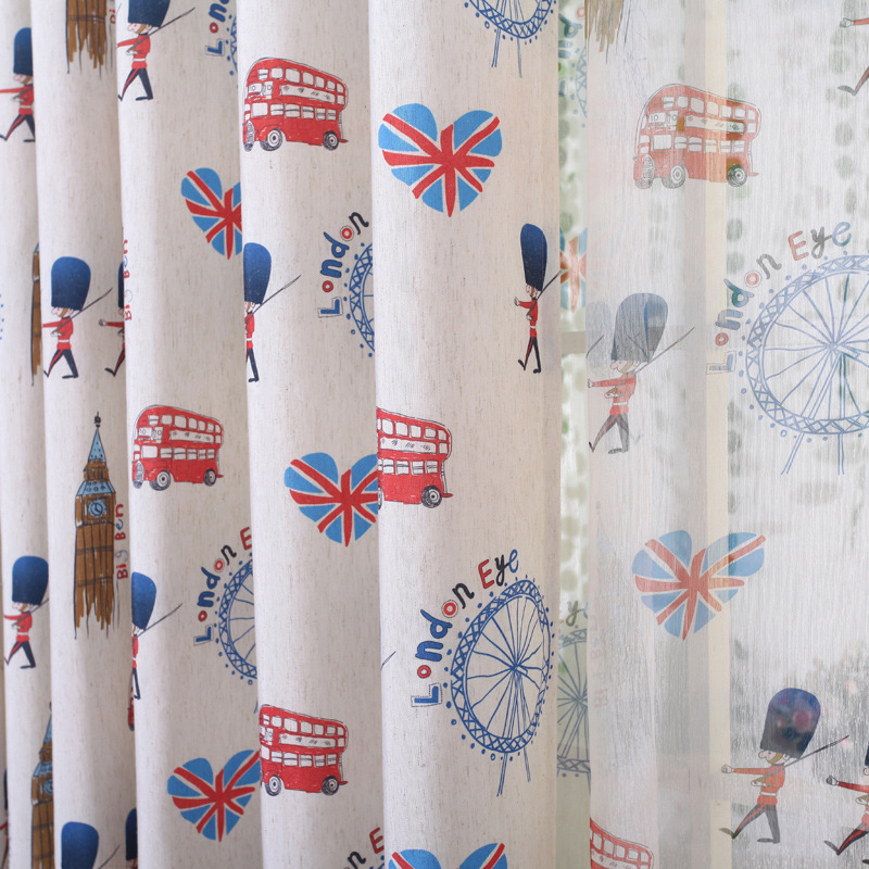 2016 New Curtains For Living Dining Room Bedroom Simple Style Cotton For  Boys Kids Children Real