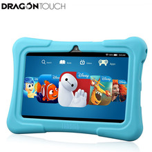 "On sale DragonTouch Y88X PLUS 7"" Kids Tablet for Children Quad Core IPS Screen 1024*600 Android 5.1 1GB+8GB Wifi Babypad With Case"