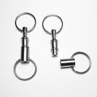 12 Stücke Außen Abnehmbare Keychain Zink-legierung Haken Schnellverschluss-Pull-Apart Abnehmbare Schlüsselanhänger mit Zwei Spaltringe
