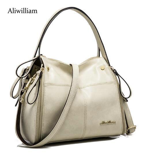 Aliwilliam 2017 Fashion Women Genuine Leather Bag Famous Designers Brand Handbag Luxury Cowhide Shoulder Messenger Bags