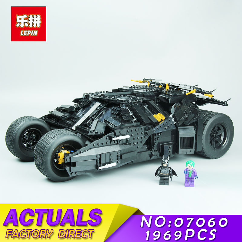 LEPIN 07060 1969Pcs Movie Super Hero Series The Batman Armored Chariot Set 76023 Building Block Bricks for Children Toys 7111 bevle store lepin 07045 501pcs with original box movie series robin chariot building blocks bricks for children toys 70905