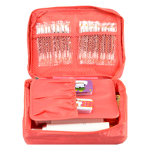 Free Shipping Red Outdoor Travel First Aid Kit Bag Home Small Medical Box Emergency Survival kit Treatment Outdoor Camping