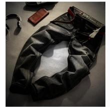 Babbytoro мужские Джинсы Мода Серый Джинсовые Бренд Мужской Slim Fit Джинсы размер 28 29 30 32 34 35 36 38 Брюки Жан брюки