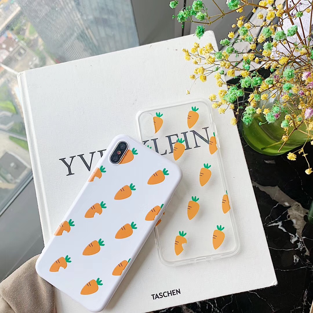 Hot newest carrot phone case For iphone Xs MAX XR X 6 6s 7 8 plus