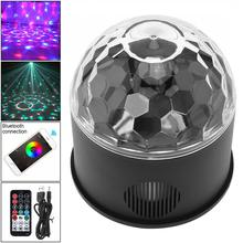 Bluetooth+Speaker LED Magic Ball Projector Stage Light 9W 9 Colors USB 5V Wireless Phone with Sound Control for DJ/ Party/ Disco