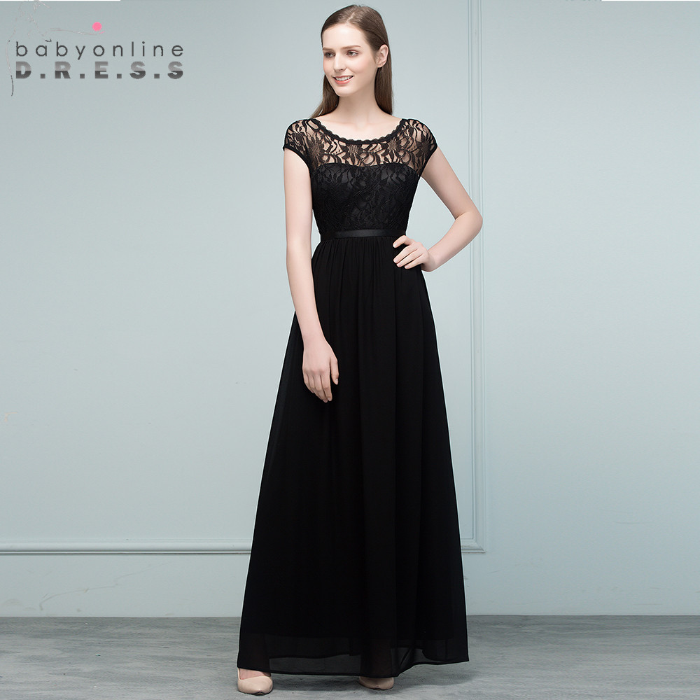 2019 Wedding   Bridesmaid   Chiffon Lace Long   Bridesmaid     Dresses   Onle Shoulder Bride Formal Party   Dress   Prom Gowns Robe De Soiree