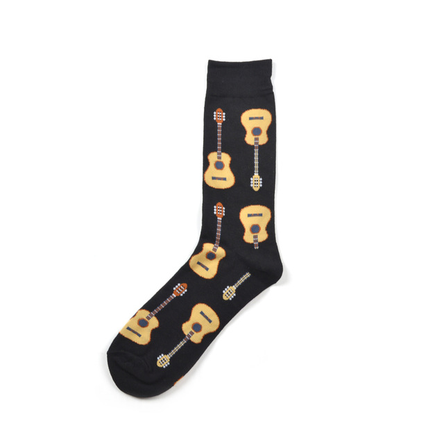 2019 Newest Men's Combed Cotton Casual Skateboard Socks Pizza Guitar Fruit Juice Novelty Funny Party Socks Crazy Party Socks 6