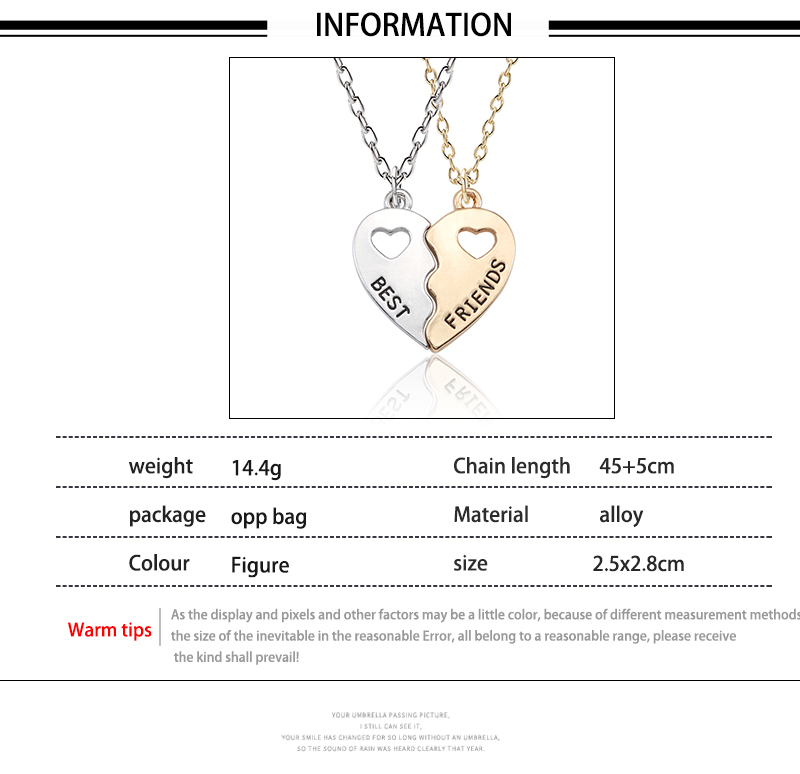 HTB17X NXcTxK1Rjy0Fgq6yovpXac - Best Friend Necklace Women Crystal Heart Tai Chi Crown Best Friends Forever Necklaces Pendants Friendship BFF Jewelry Collier