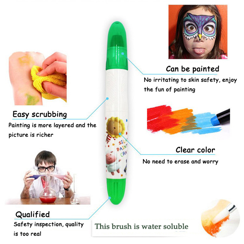 24 color water-soluble silky oil painting stick children crayons rotation kindergarten educational drawing Supplies24 color water-soluble silky oil painting stick children crayons rotation kindergarten educational drawing Supplies