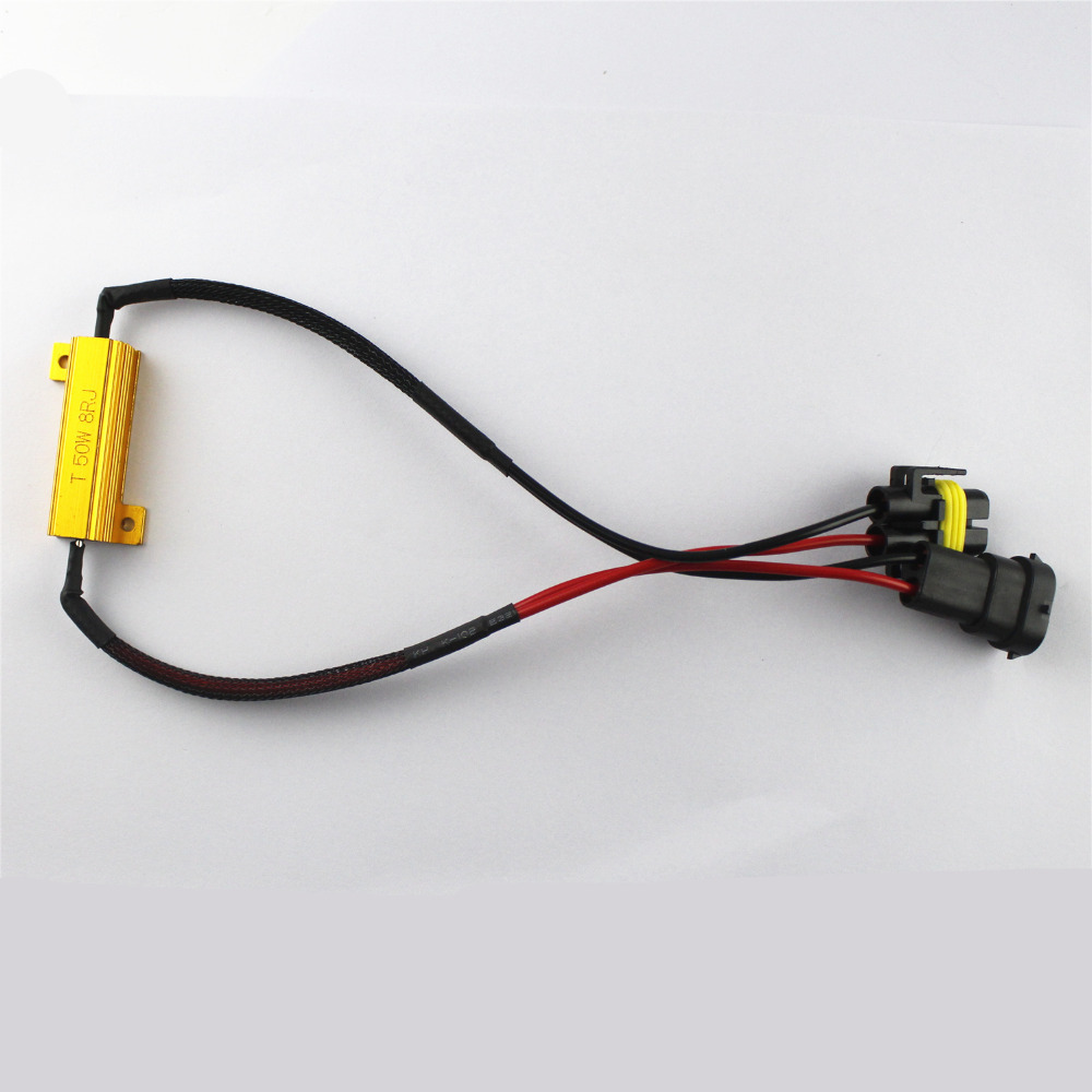 2x H11 H8 Led Light Fog Xenon Hid No Error Load Resistor Wiring Harness Adapter 50w 8rj Decoder For Bulbs Code In Car Headlight Bulbsled From
