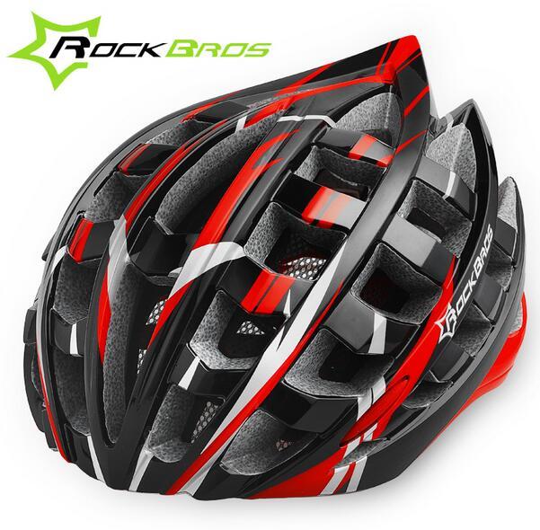 RockBros Red Helmet Unisex Road Bike MTB Cycling H...