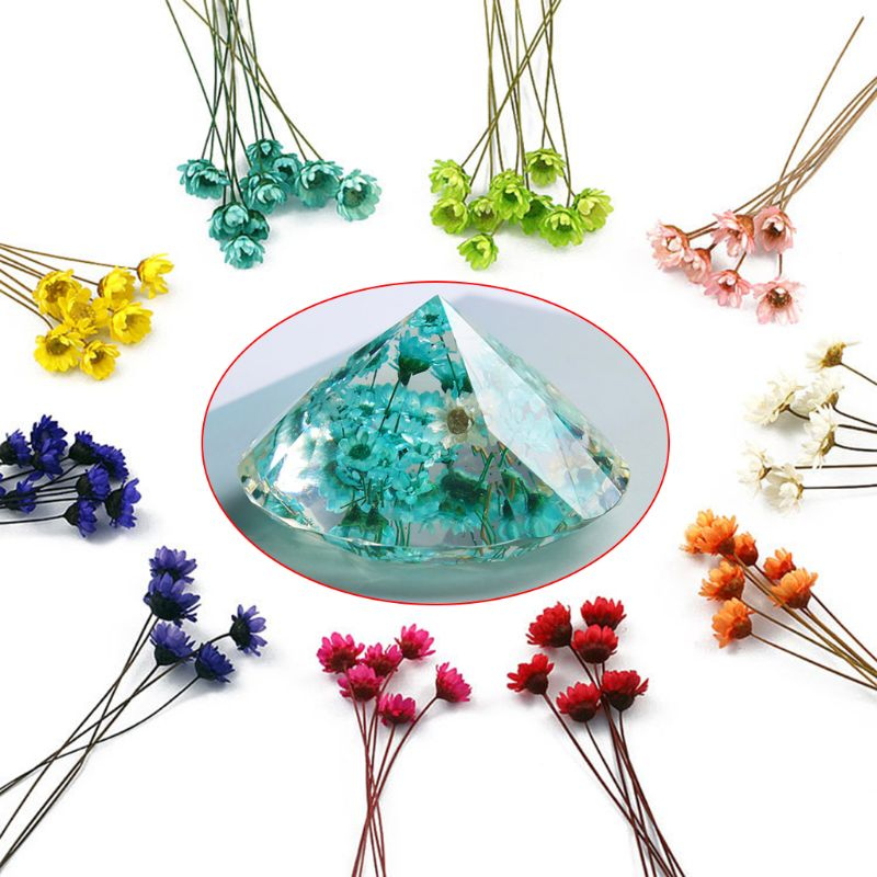 12pcs/set Crystal Epoxy Mould UV Glue Mini Daisy Dried Flower Bracelet Ring Filler Nail Art Manual DIY Making Mobile Shell Craft