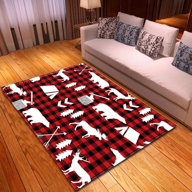 Creative Animal Deer Print Carpets For