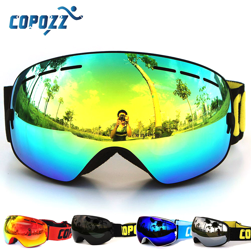 Copozz Polarized ski goggles double lens UV400 anti-fog glasses gafas skiing men women snowboard Cycling Hiking goggles glasses foldable anti glare polarized windproof goggles anti fog glasses unisex