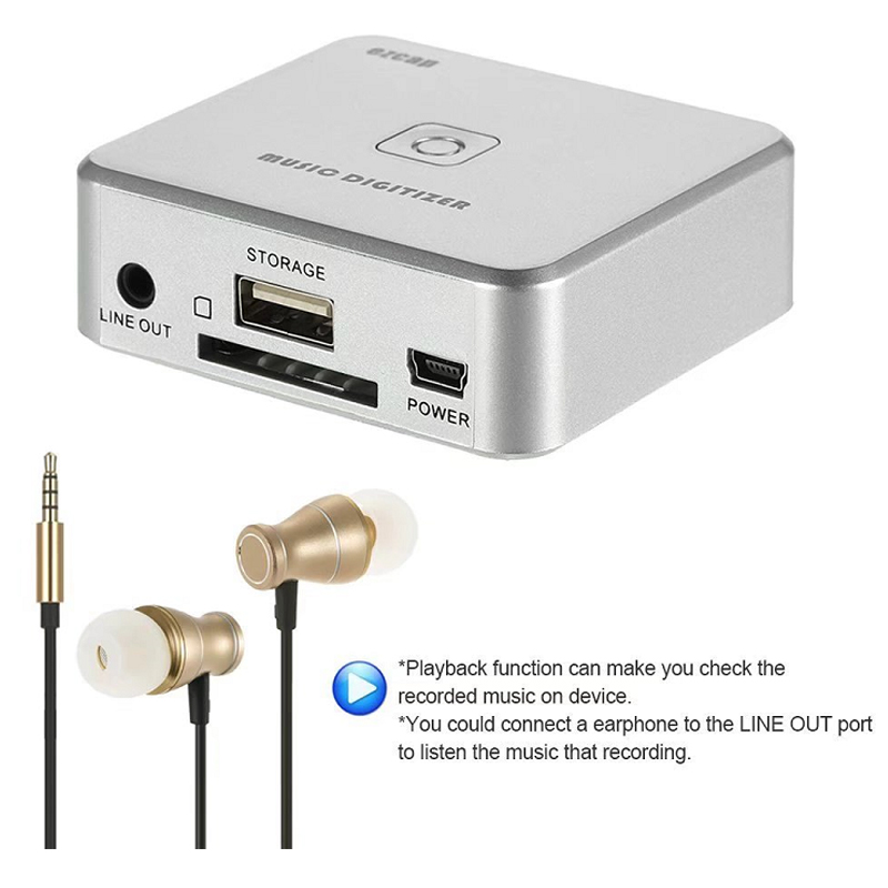 Audio To MP3 Capture Card Converter, Convert Old Analog Music To Mp3, Save Into USB Flash Disk / SD Card Directly, Free Shipping
