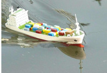 Boat model With DIY container vessel electric power ship model navigation Educational Toys Children Gifts
