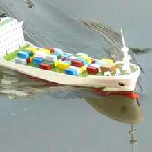 Boat-Model Toys Container Electric-Power Children with DIY Vessel Navigation Educational