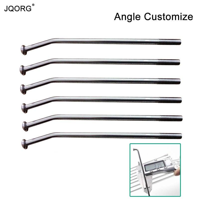 JQORG 10G Diameter 3 2mm Spokes Length 60mm 360mm Customize E bike Spokes SUS304 Angle 0