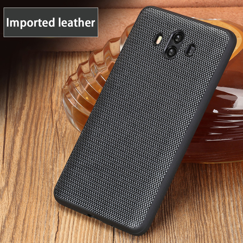 Business Style Diamond Texture Phone case For Huawei Mate 9 10 Pro case Genuine leather back cover For P10 20 Nova 2s Plus cases in Fitted Cases from Cellphones Telecommunications