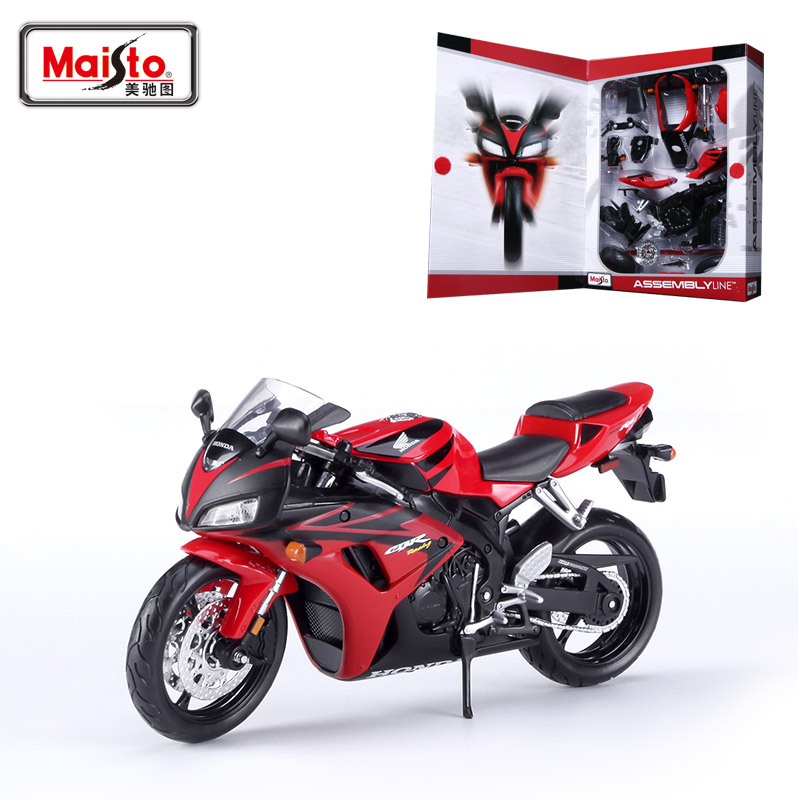 Купить с кэшбэком Maisto CBR1000RR Motorcycle Model Kit 1:12 scale metal Assembly DIY Motorcycle Bike Model Kit Toy For Gift Collection