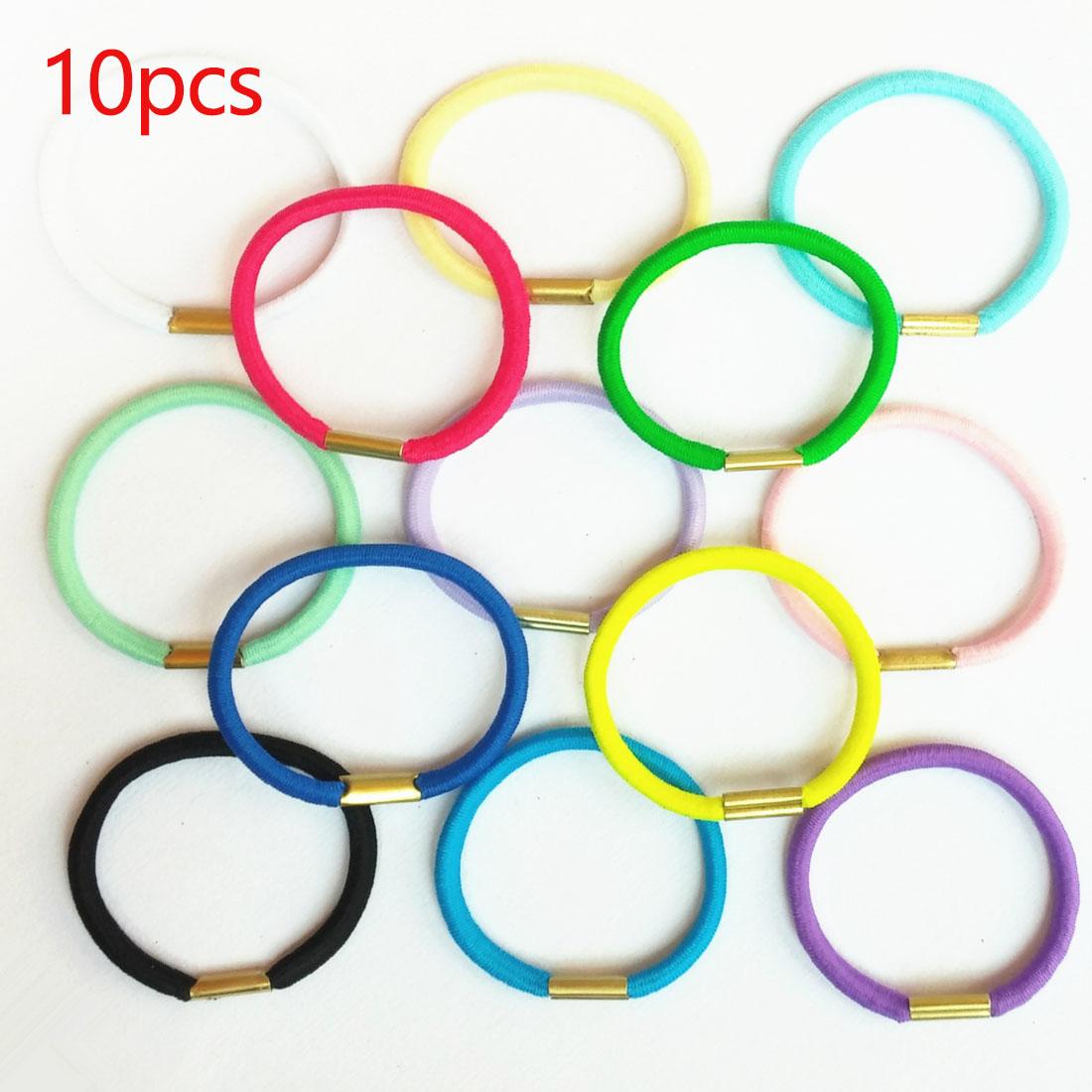 10pcs/lot Lovely Ponytail Holder Hair Accessories Girls Black Elastic Hair Rubber Bands Hair Ropes Hairdress Tie Gums Superior (In) Quality