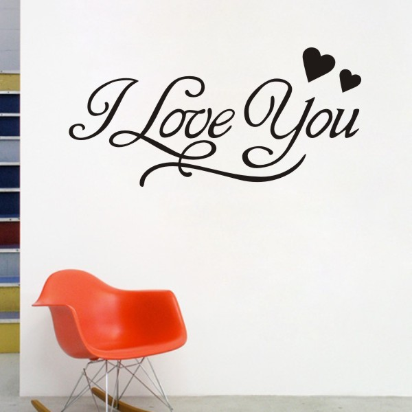 Llove You Wall Decals Quotes Heart Vinyl Stickers Home Decor Wall Delectable L Love You Quotes