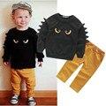 Fasion ropa de los cabritos muchachos forma moster ropa linda ropa de los niños nueva ropa de bebé niño