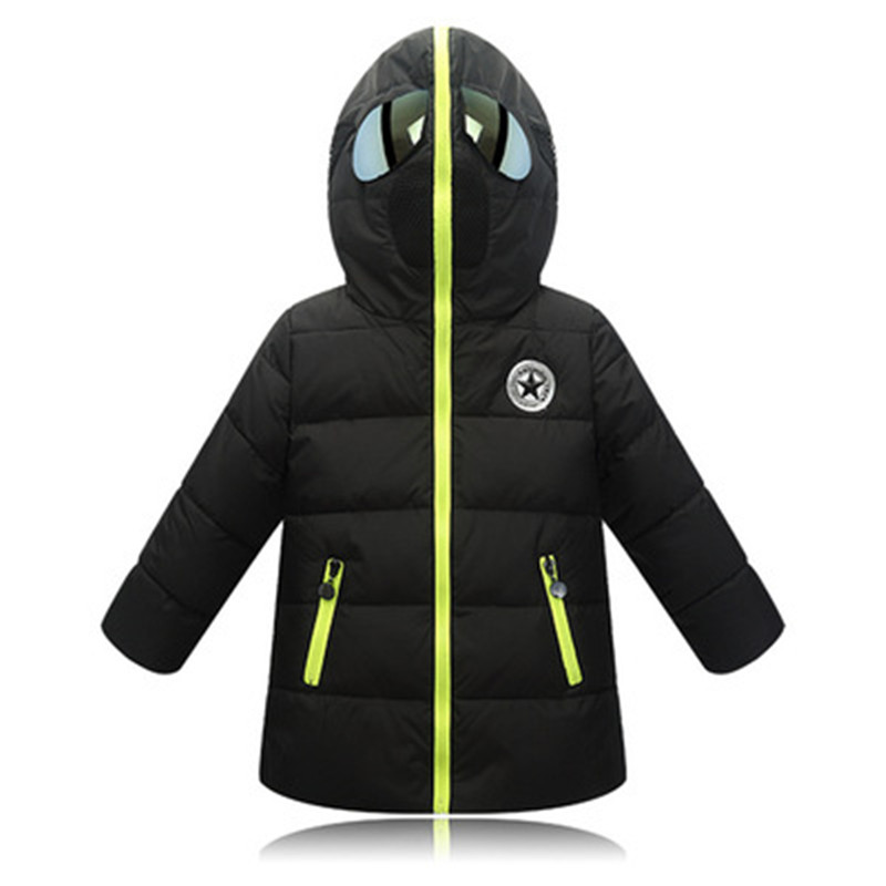 Children Outerwear Winter Warm Coats Boys Coat Hooded Children Clothes Boy Down Jacket Cartoon Design Kid Jackets