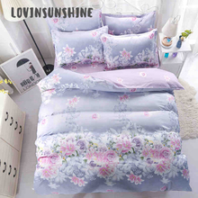 LOVINSUNSHINE Bed Sheet Duvet Cover Set King Size Home Textile Fresh Flower Design Quilted Comforter AB#70