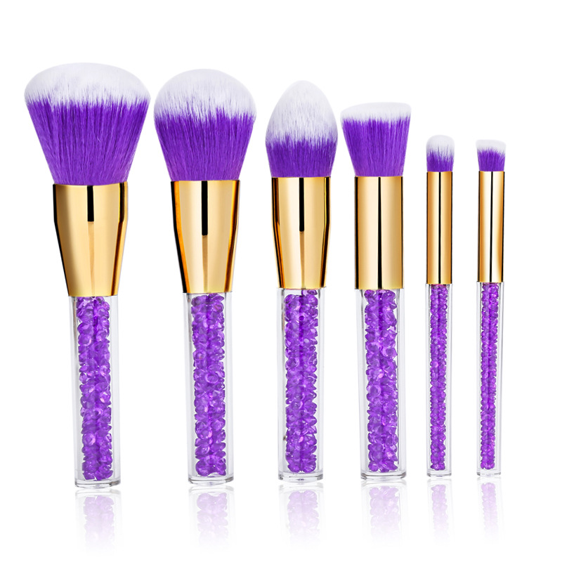 6pcs/Sets New Fashion Make-up Brush Acrylic Drill Cosmetic Brush Makeup Brush Set Artificial Fiber Long Rod Two Colors Optional waterproof abs plastic electronic box white case 6 size