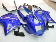 Hot Sales,CBR 1100 XX 96-07 Body Kit For Honda CBR1100XX 1100 Blackbird 1996-2007 Blue Motorcycle Fairings (Injection molding)