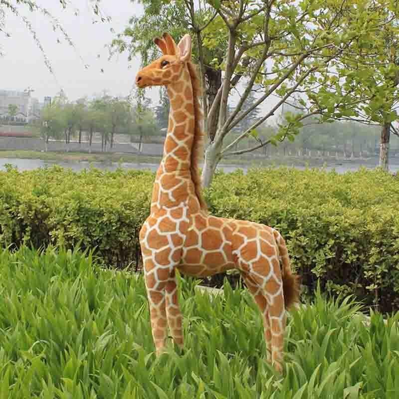 где купить Big Size Simulation Giraffe Plush Toy lovely standing Giraffe Stuffed Animal Valentine's Day Gifts по лучшей цене