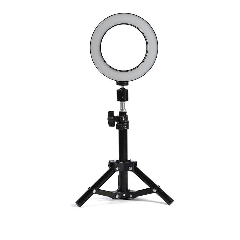 Photo Studio LED Light Ring 6 16 cm 3200-5600 k 64 Led Selfie Anneau Lampe Éclairage Photographique avec Trépied Moblie Téléphone Pince
