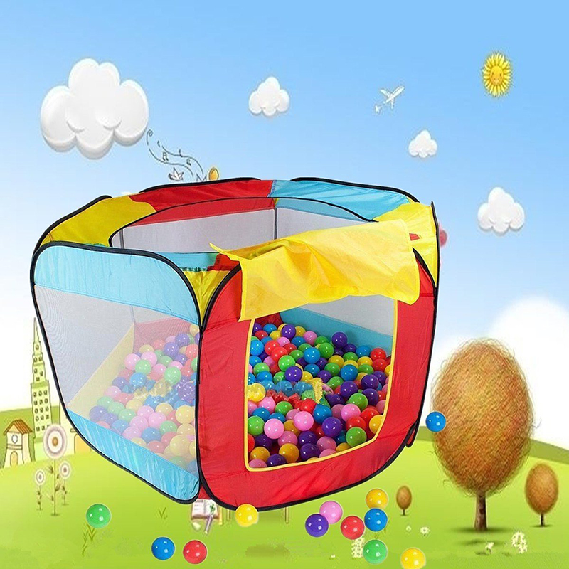 Durable Foldable Kid Ocean Ball Pit Pool Game Play Tent Ball Hut In/Outdoor Six Sides for Children Outdoor Toys