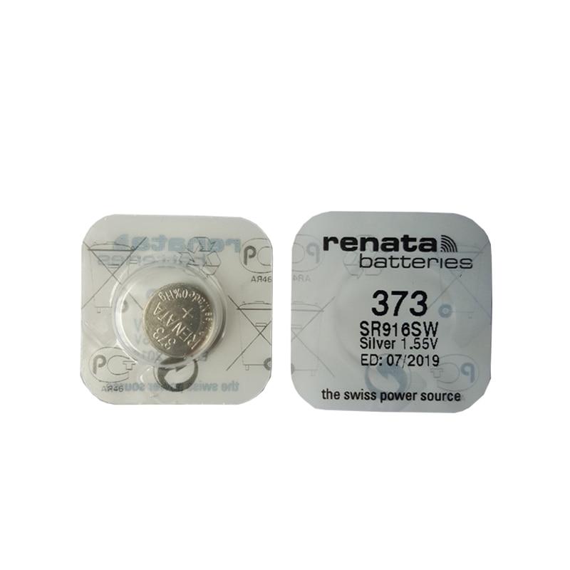 2pcs renata Silver Oxide Watch 373 SR916SW 916 1.55V 100% battery