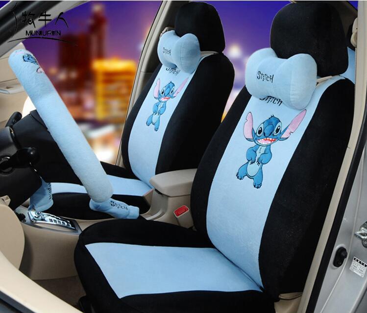 MUNIUREN 18pcs Cute Cartoon Car Seat Covers for Women Car Styling ...