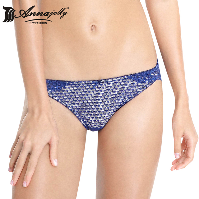5de86ca57533 Annajolly Wome Sexy T-back Panties 3PC Top Lace G-String Cotton Lingerie  Blue Black White Underwear Low Rise New Fashion 1129T