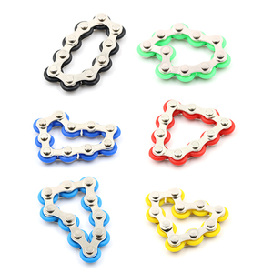 New Arrive Anti Stress Toy For Kids/Adult/Student Bike Chain Fidget Spinner Bracelet For Autism and ADHD Chaney Fidget Toy(China)