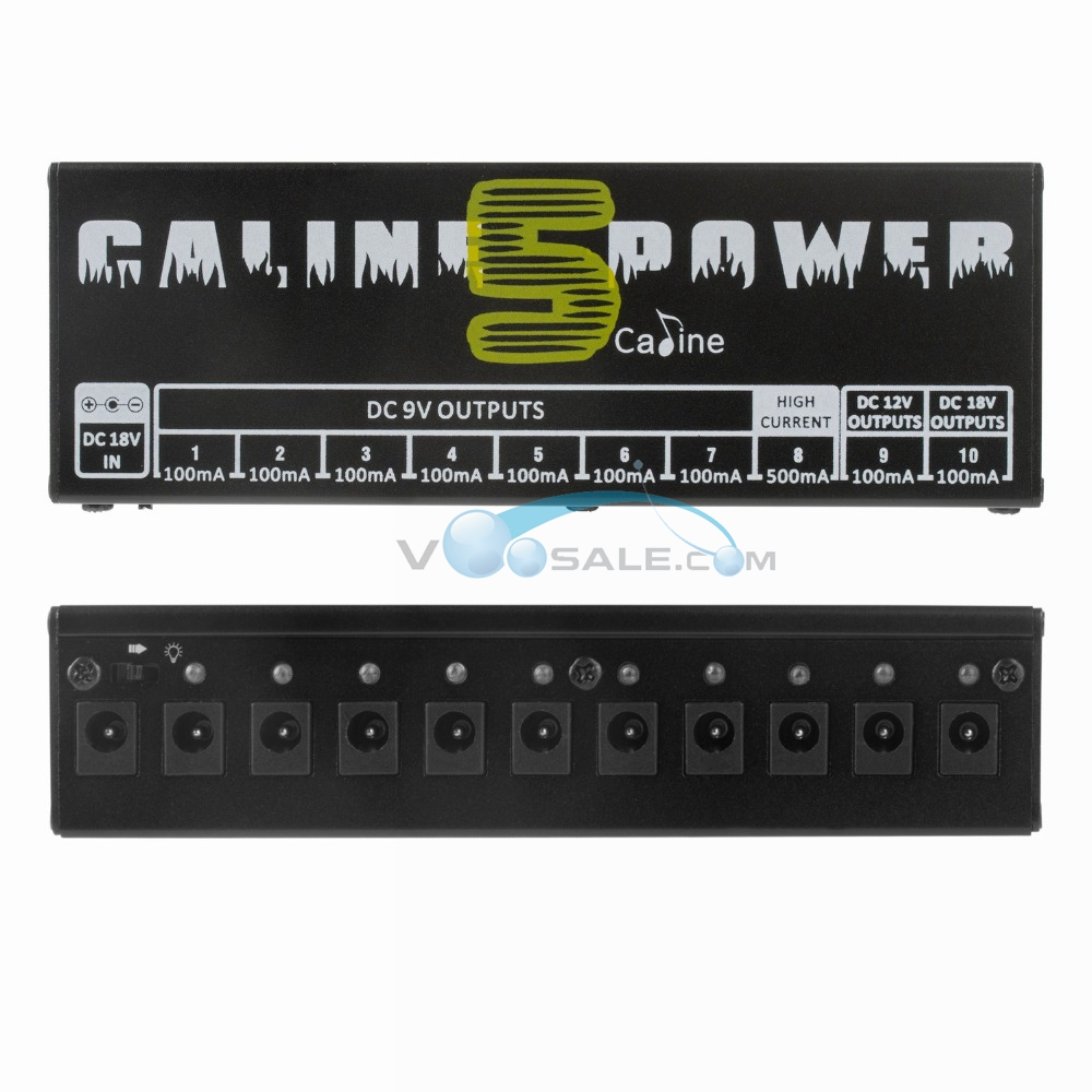 Image 3 - Caline CP 05 Effect Pedal Power Supply High Frequency 10 Isolated Outputs (9V, 12V, 18V) Voltage Protection Guitar Pedal Power-in Guitar Parts & Accessories from Sports & Entertainment