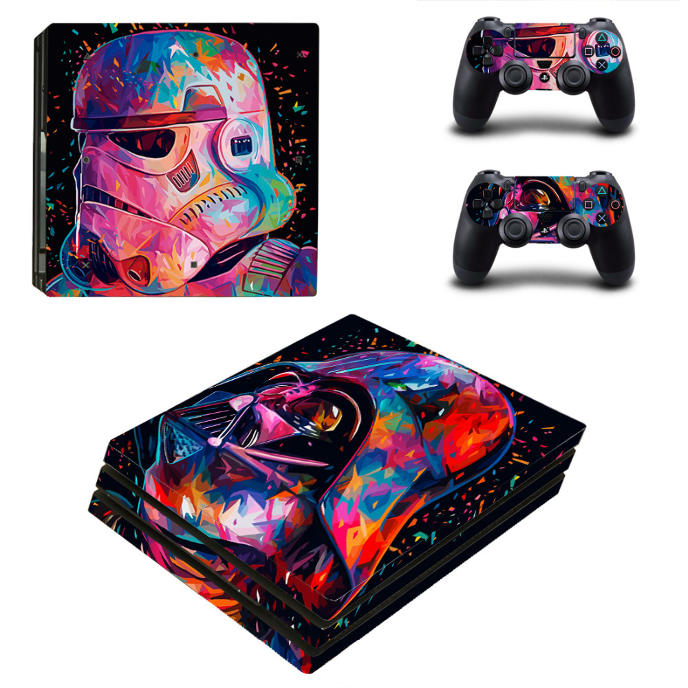 Star Wars PS4 Pro Skin Sticker Decal for Sony PlayStation 4 Console and 2 Controllers PS4 Pro Skin Sticker Vinyl